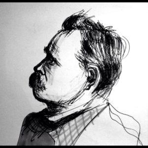 le lacrime di Nietzsche, ritratto del filosofo di Simone Ordine