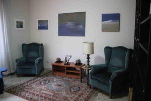 Cura e pittura, stanza di psicoterapia