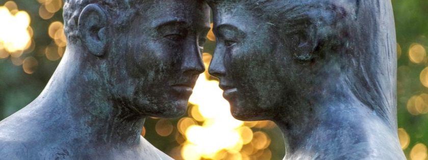 scultura di coppia psicoterapia partner