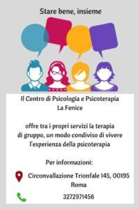 terapia di gruppo roma prati La Fenice centro di psicologia e psicoterapia